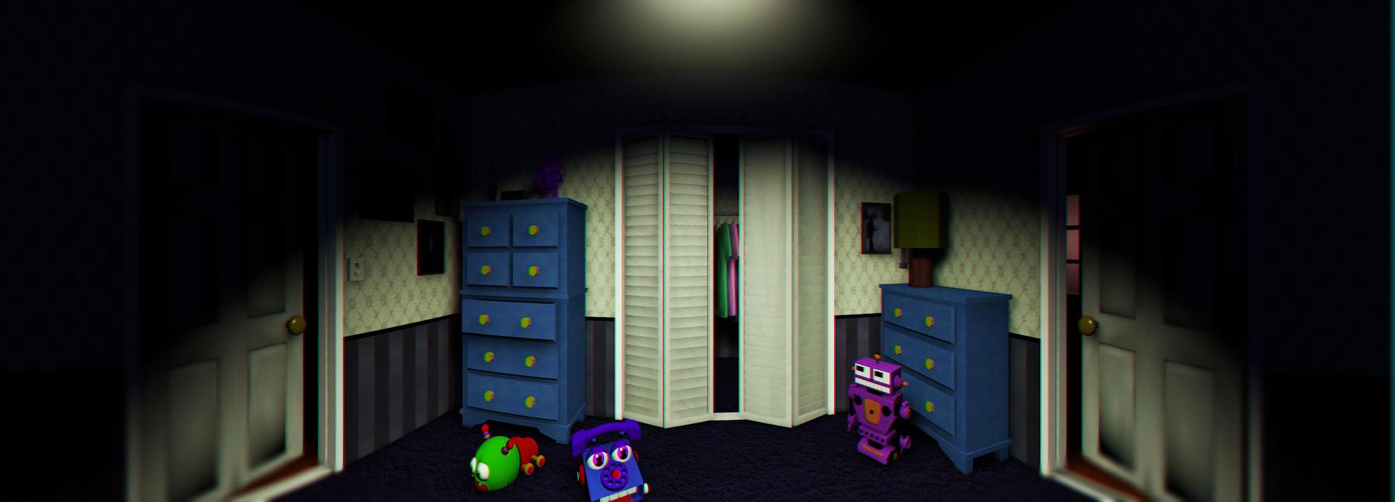 this is the fnaf 4 bed room  fnaf ultimate challenge