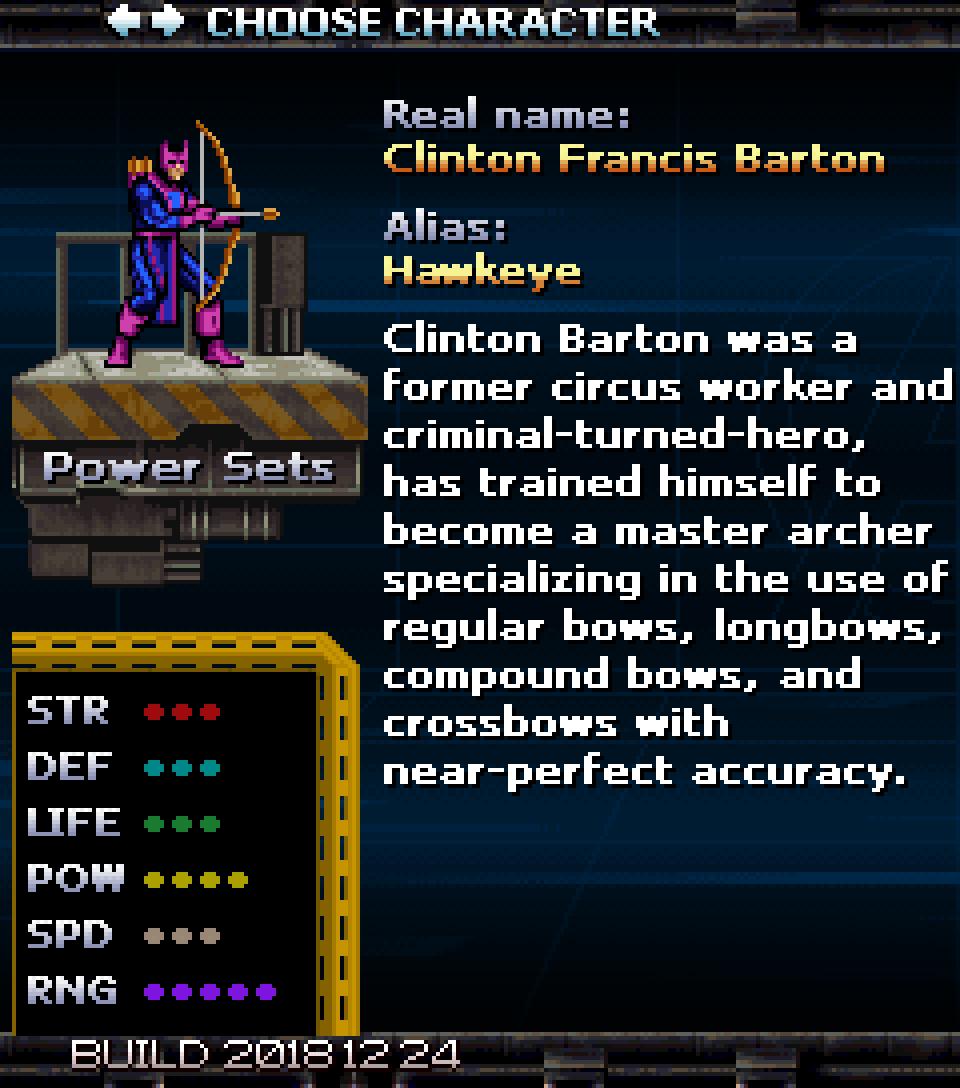 Character Bios: Hawkeye - Avengers: United Battle Force by Douglas