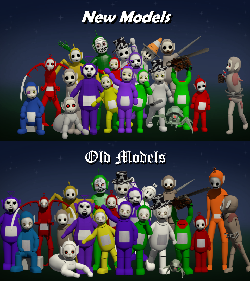 50 Of The New Character Models Are Done Slendytubbies