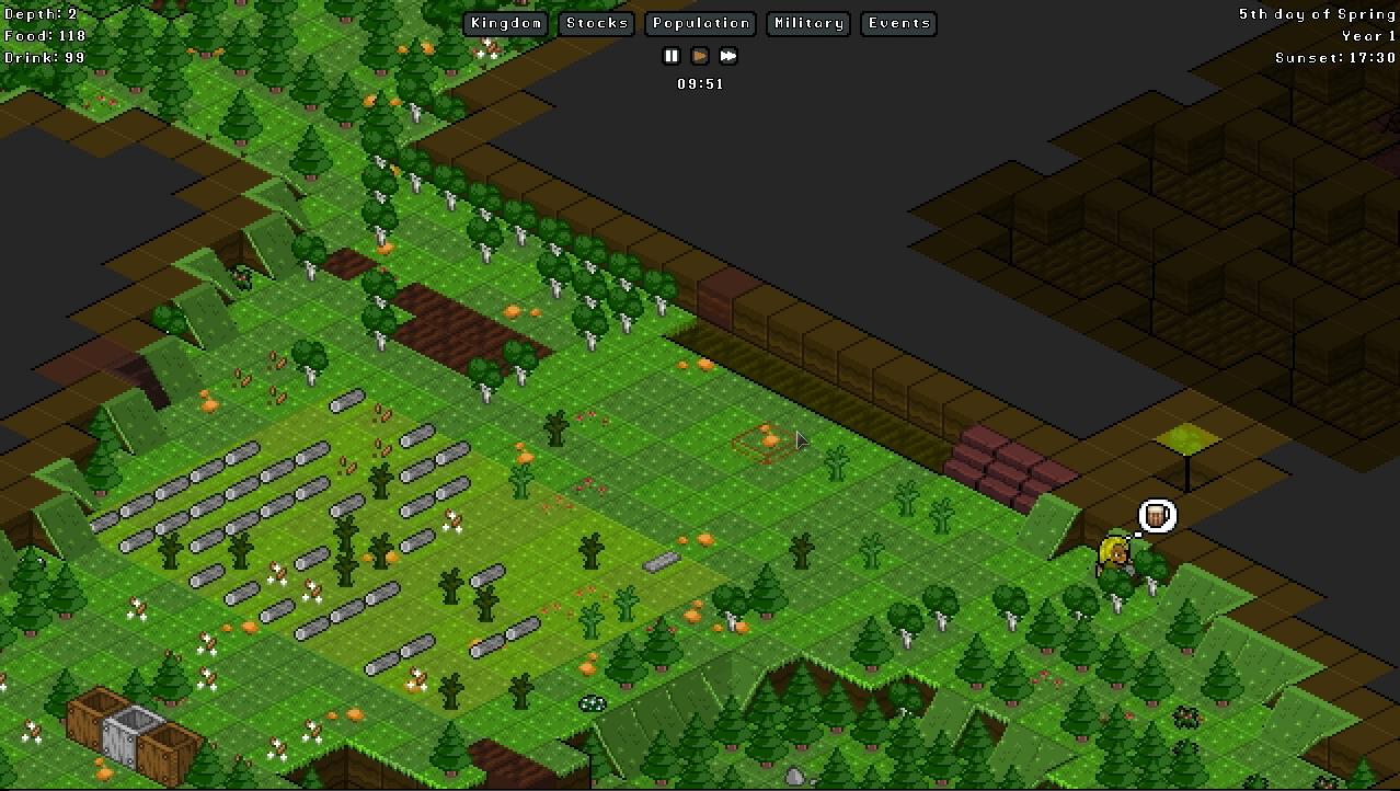 Gnomoria: Dwarf Fortress Inspired Gnome Kingdom Builder