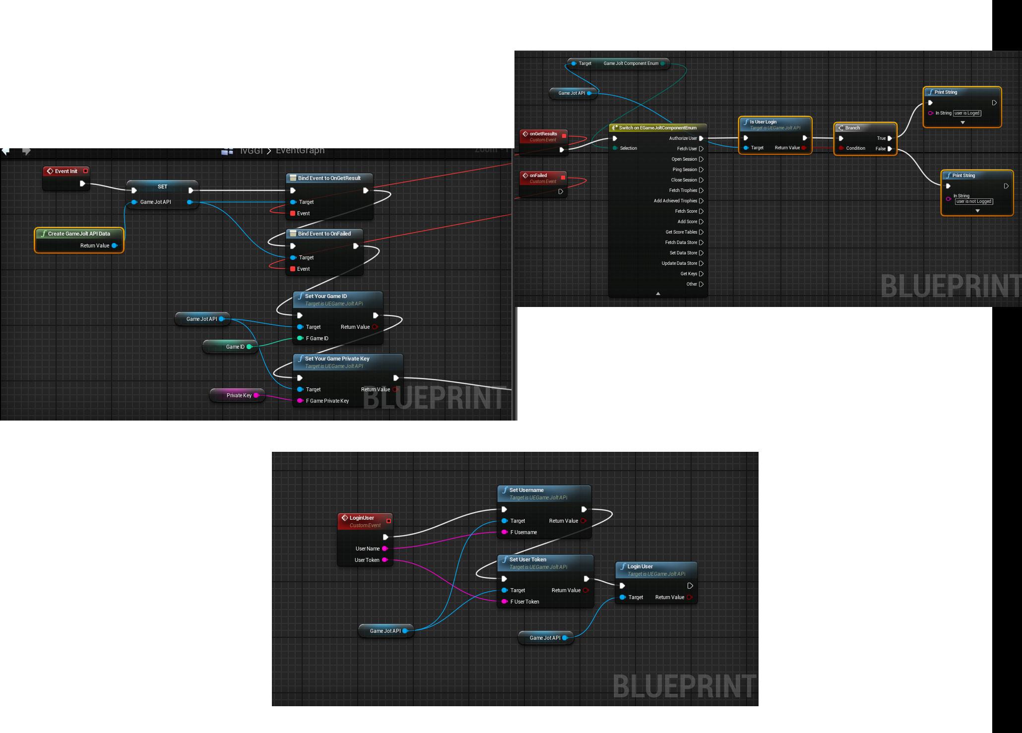 Unreal Engine 4]GameJolt Plugin for UE4 - Game Jolt