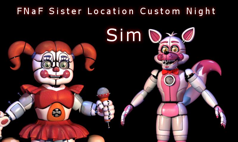 FNaF Sister Location Custom Night Sim 012