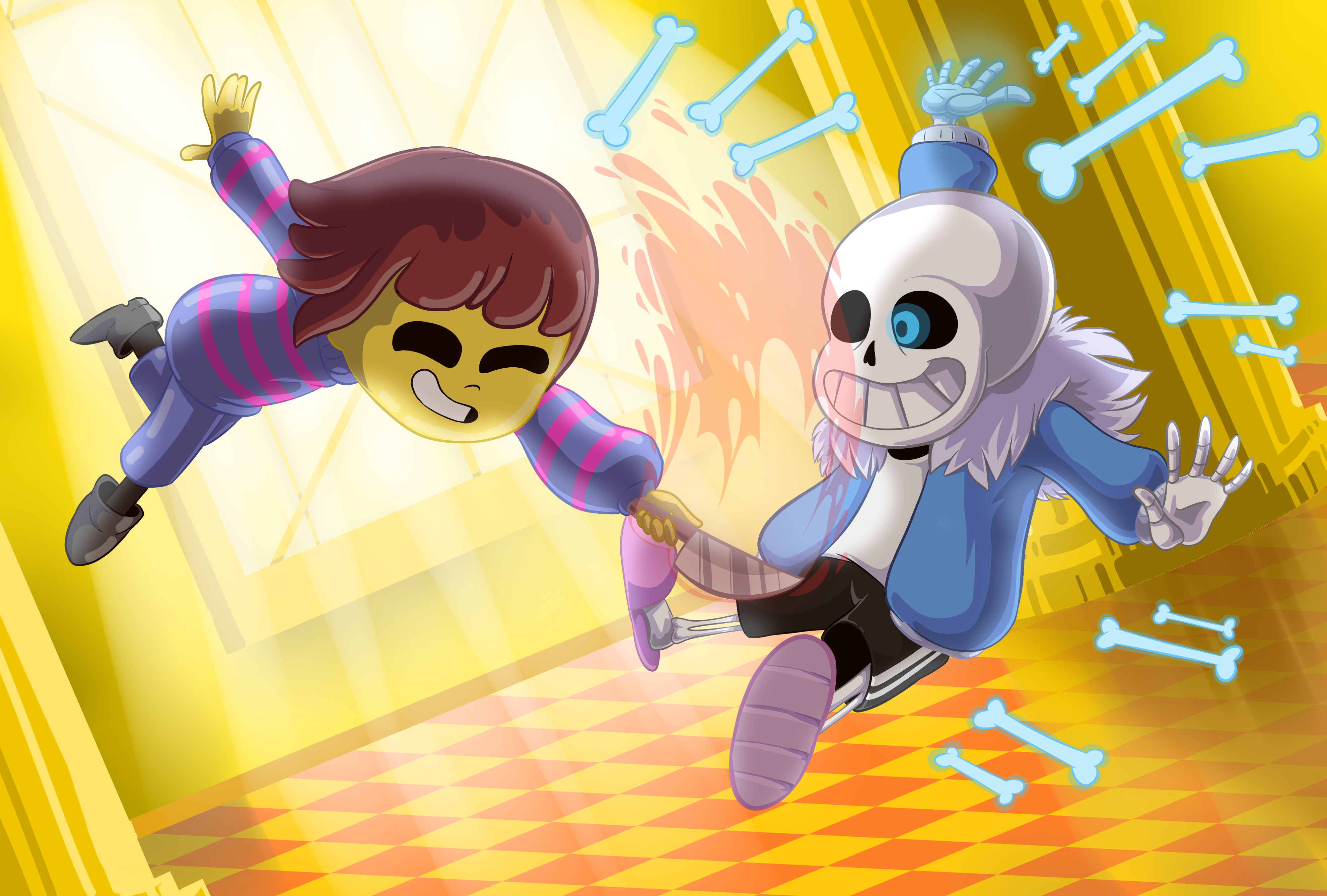 undertale sans vs frisk by woloned woloned on game jolt